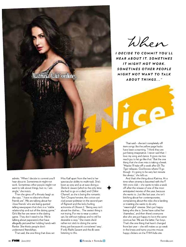 Katrina Kaif FHM – July 2012 HQ Scans