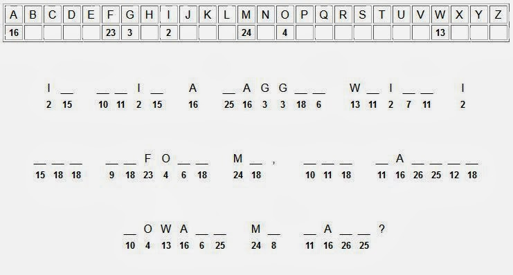 Free printable Word Search and Sudokus: Cryptogram 11