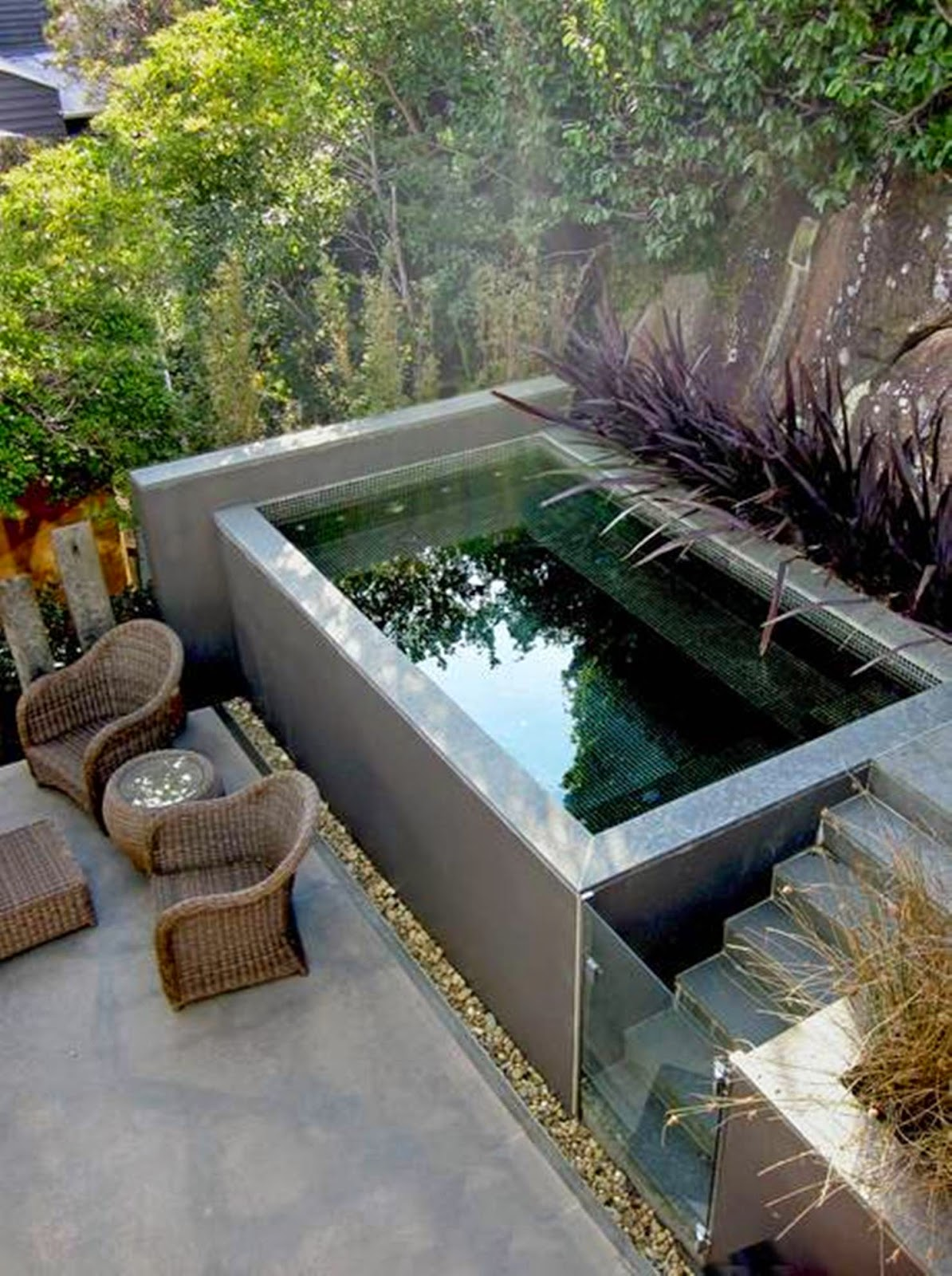 Natural Pool Designs For Small Backyards : blog de decora??o  Arquitrecos Quintais pequenos Lazer para todas
