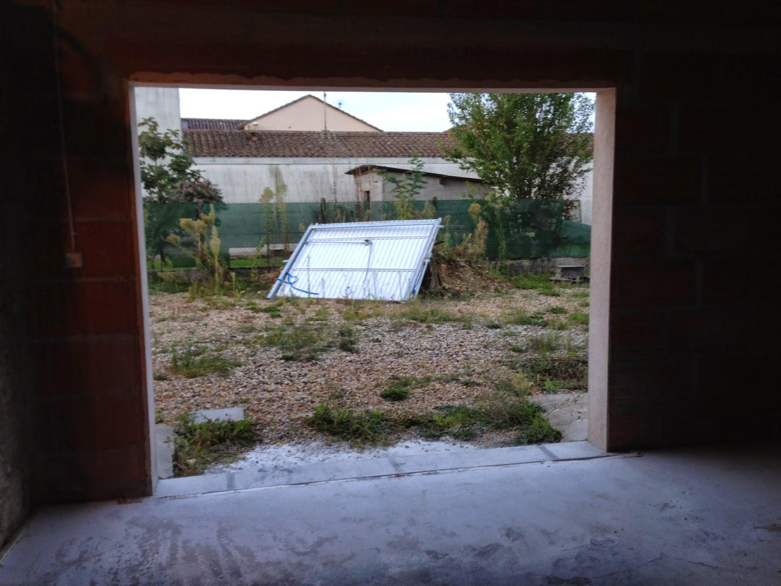 Notre projet salon salle manger remplacement porte de - Remplacer porte de garage par baie vitree ...