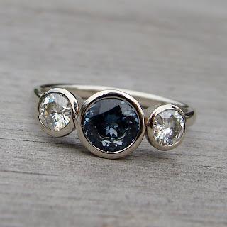 sapphire moissanite ring