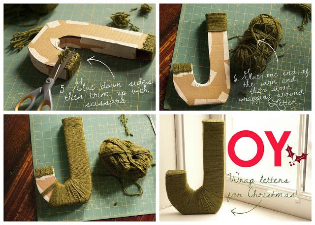 DIY Letras decorativas forradas de lana