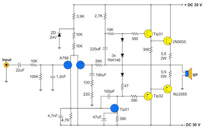 400W Amplifier with 2N3055/MJ2955