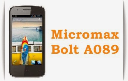 Micromax Bolt A089: 4 inch,1.3 GHz Dual-core Android Phone Specs, Price