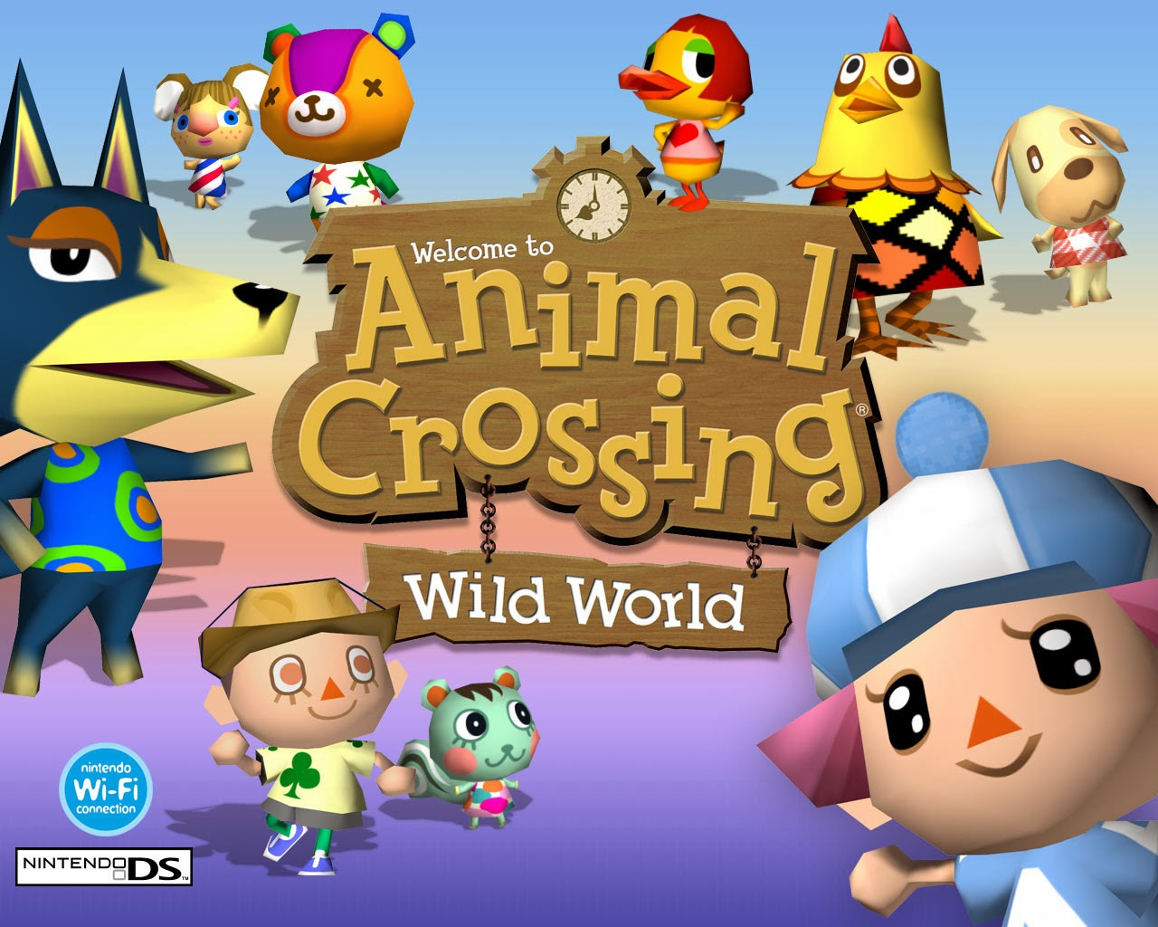 Animal Crossing Wild World poster