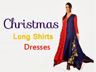 Christmas Dresses Long Shirt Fashion