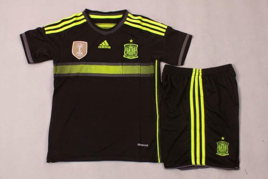 jersey kids spanyol away world cup 2014 - pusat grosir jersey
