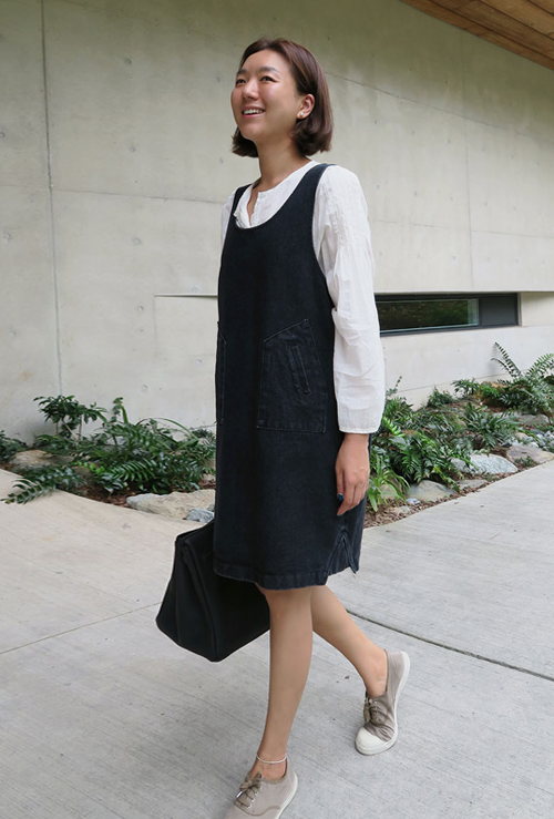 Dark Wash Denim Jumper Dress