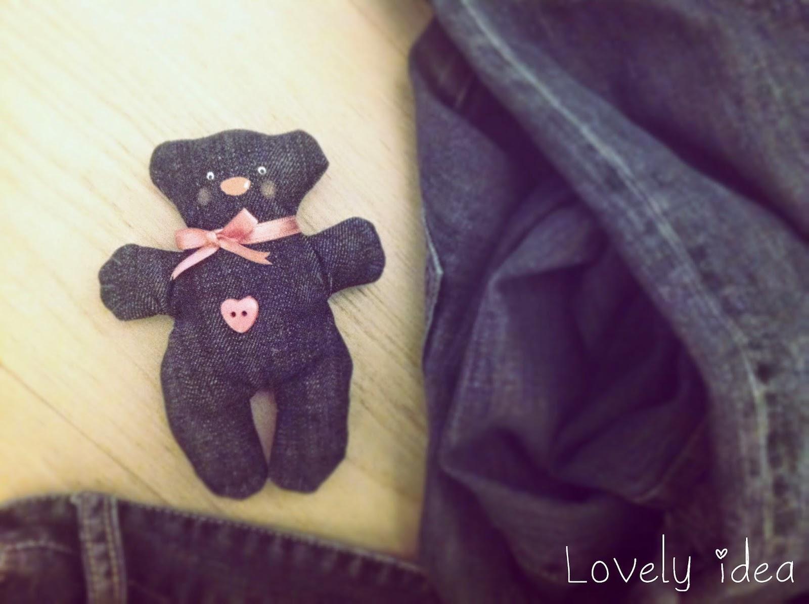 diy denim teddy bear