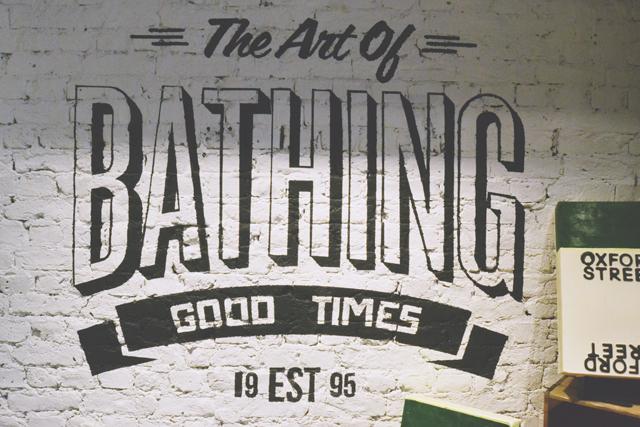 Lush Art of Bathing Wall