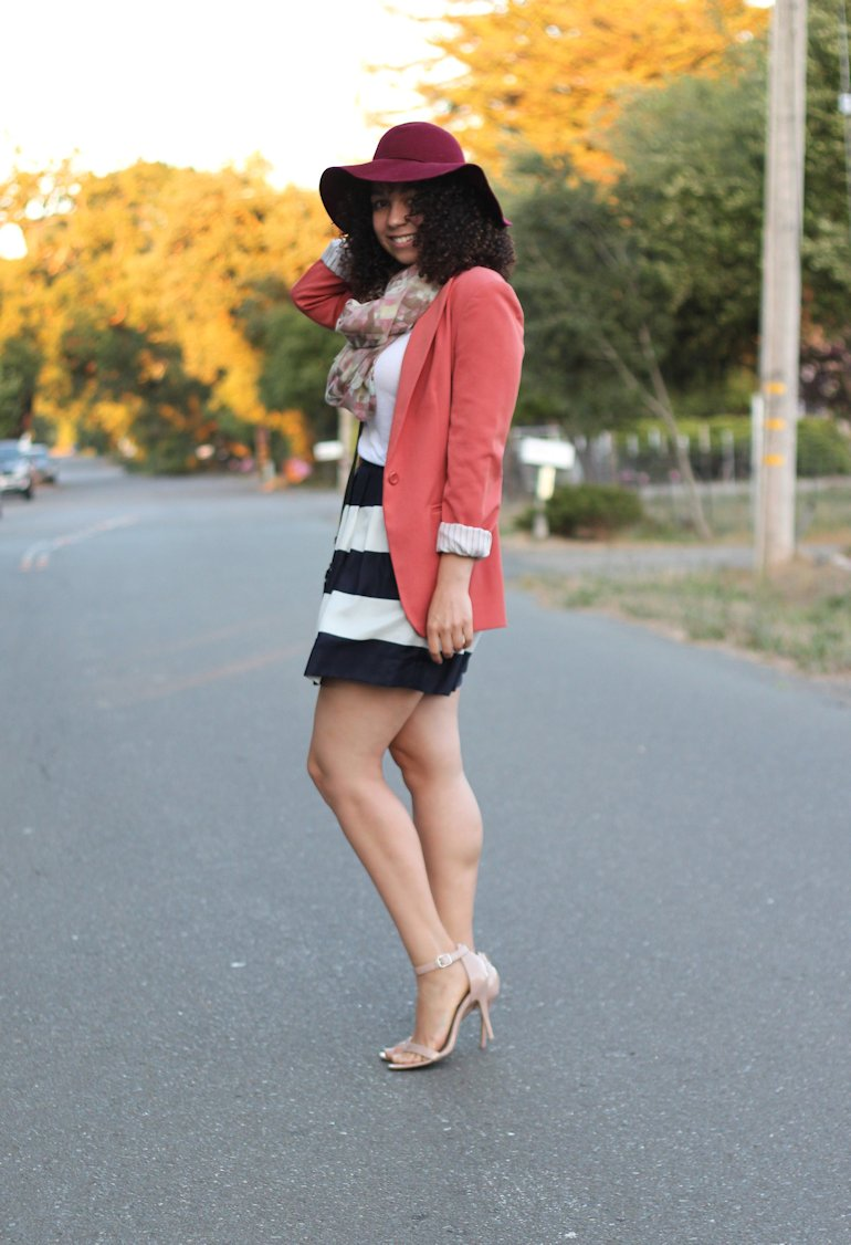 j crew skirt, fashion bloggers, natural hair bloggers, floppy hats