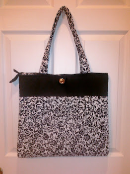 Zippered/Button Hook Diaper Bag