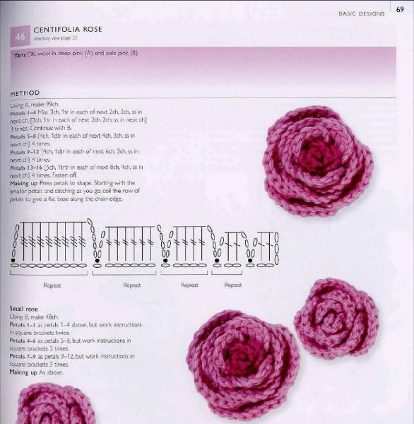 Patrones crochet y amigurumis para Sant Jordi: rosas y ...