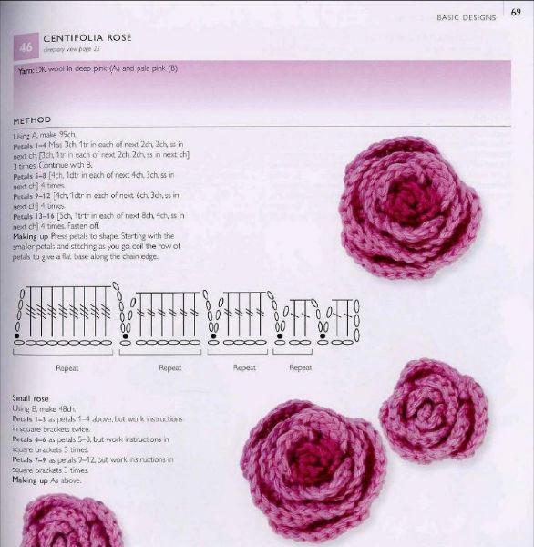 Patrones crochet y amigurumis para Sant Jordi: rosas y dragones ...