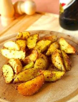 Batatas Rosadas com Orégano (vegana)