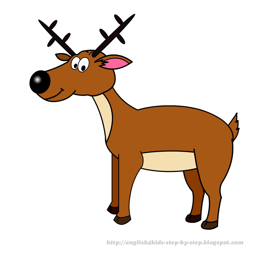 free clipart cartoon deer - photo #4