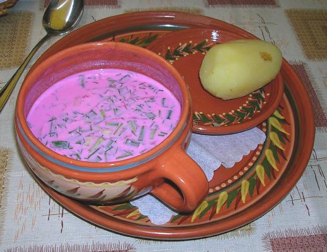 Lithuania's dish Saltibarscial