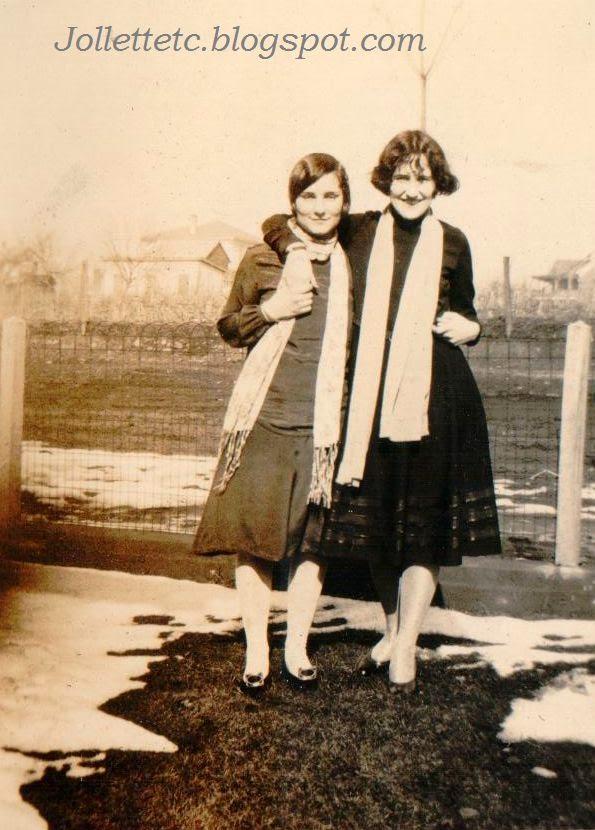 Elise Taylor and Velma Davis Feb 1926