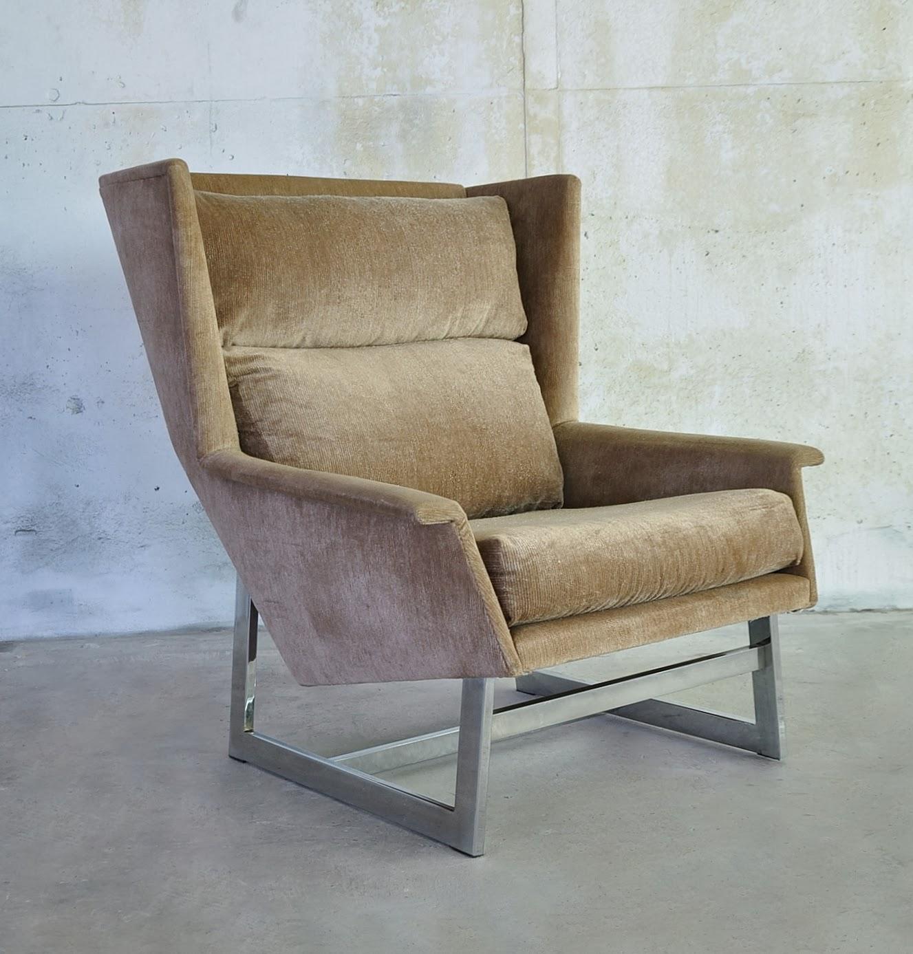 Select modern hans wegner style chrome lounge chair - Hans wegner style chair ...