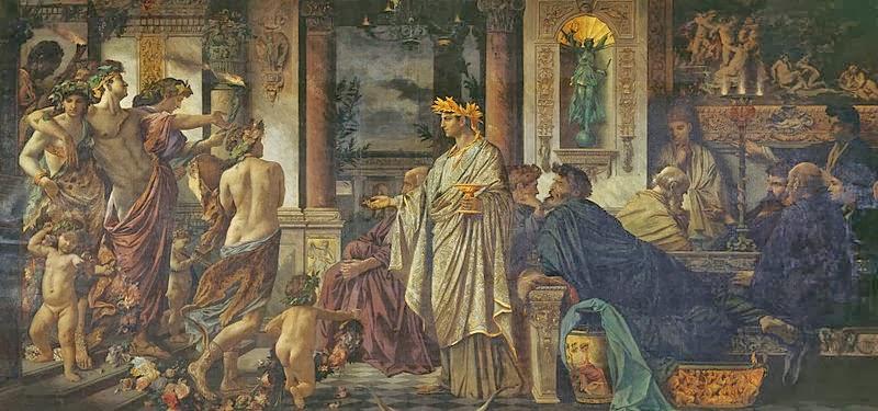 Anselm Feuerbach - Das Gastmahl Nach Platon