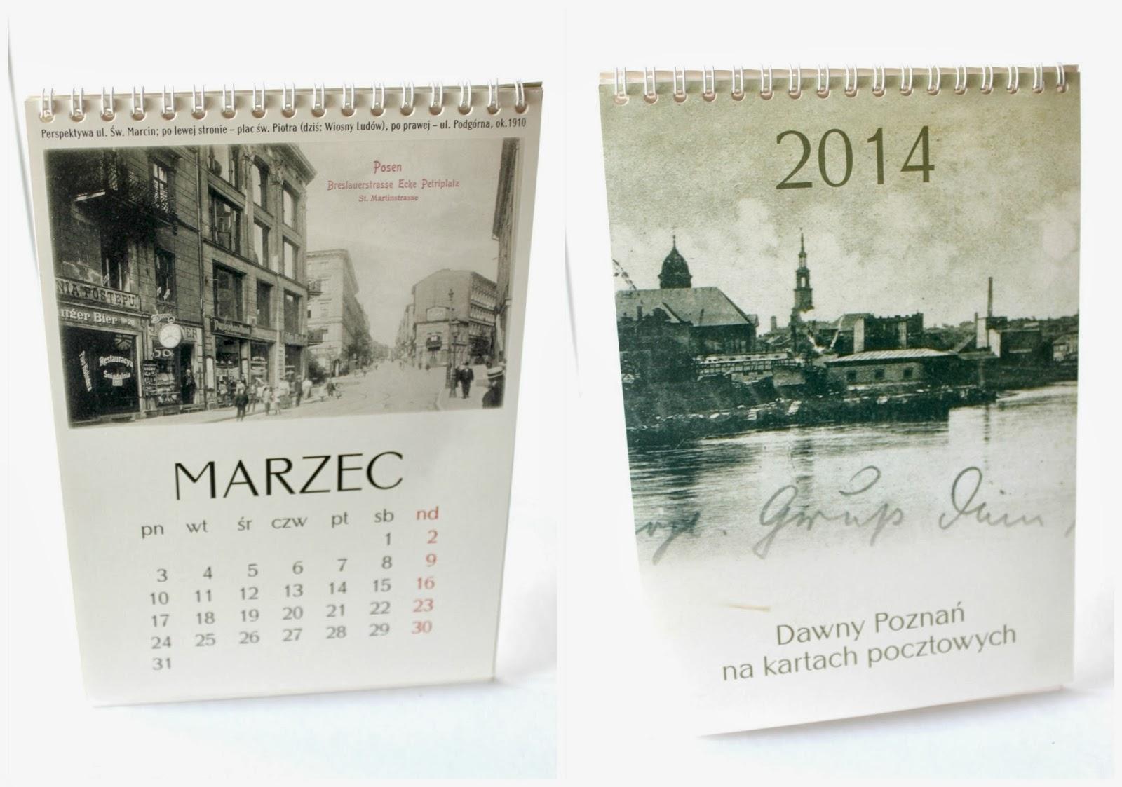 kalendarz z pocztówkami