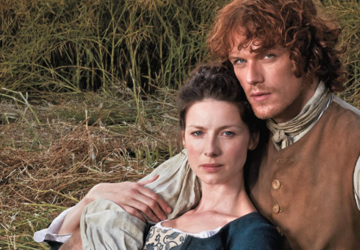 Jamie y Claire Tvguide-closeup