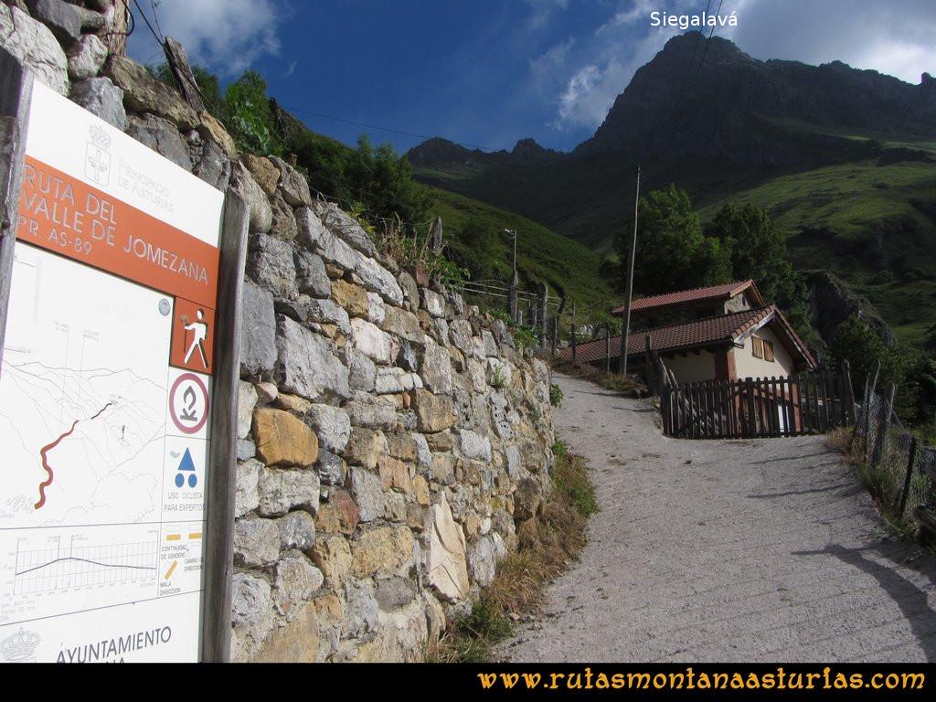 Ruta Tuiza Siegalavá: Saliendo de Tuiza de Arriba