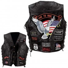 ON SALE NOW-RICK LEATHER BIKE VEST