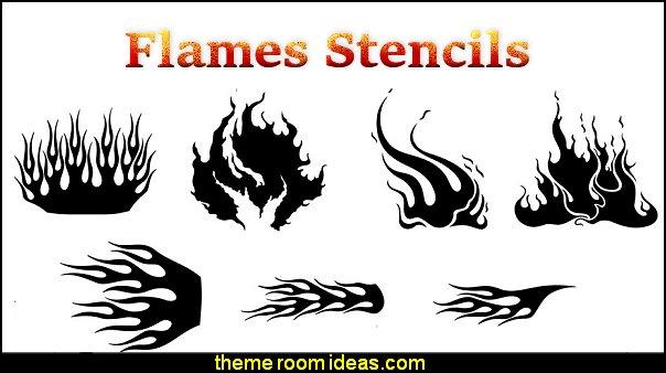 Harley-Davidson Flames Stencil