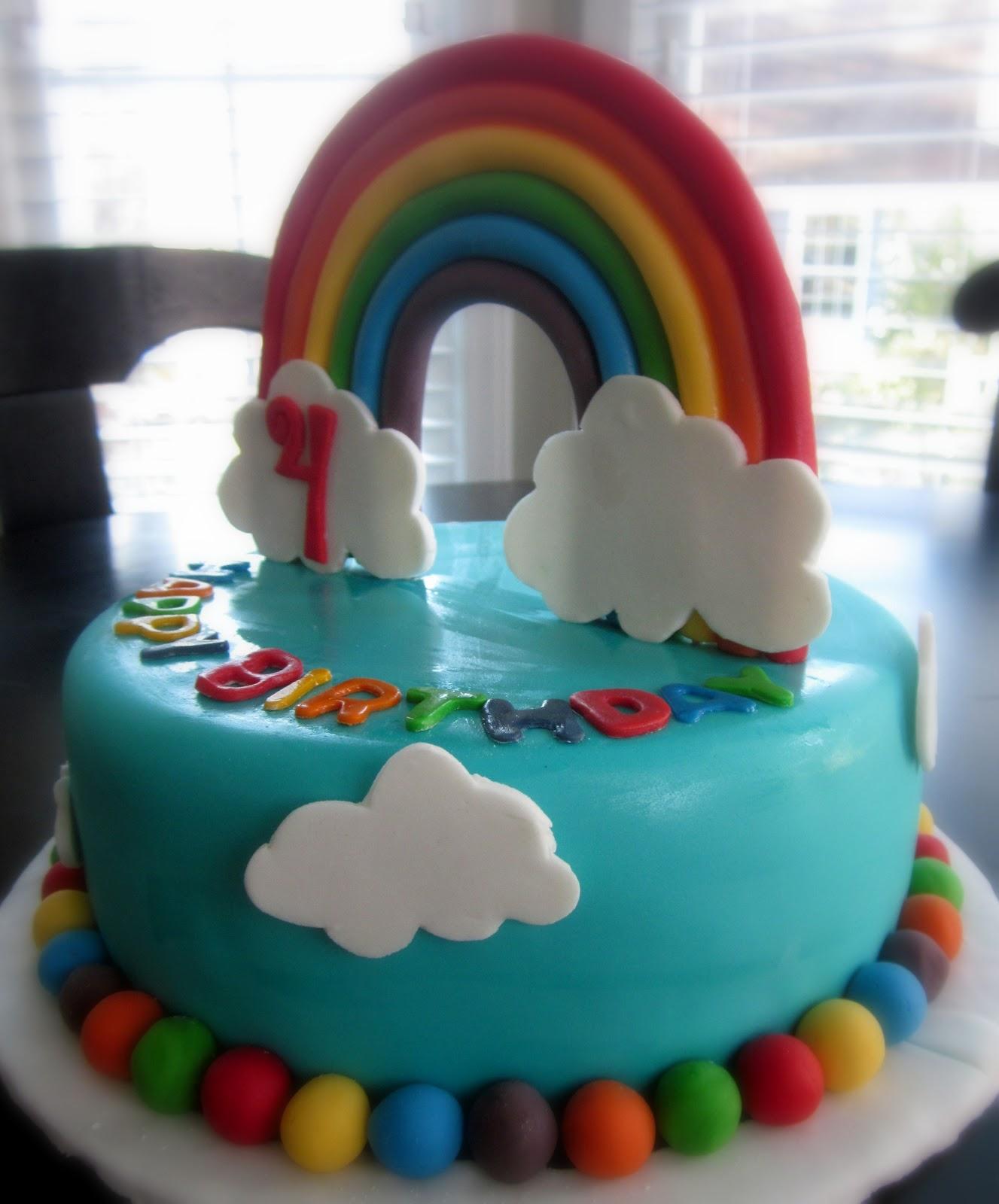 Darlin' Designs: Rainbow Birthday Cake