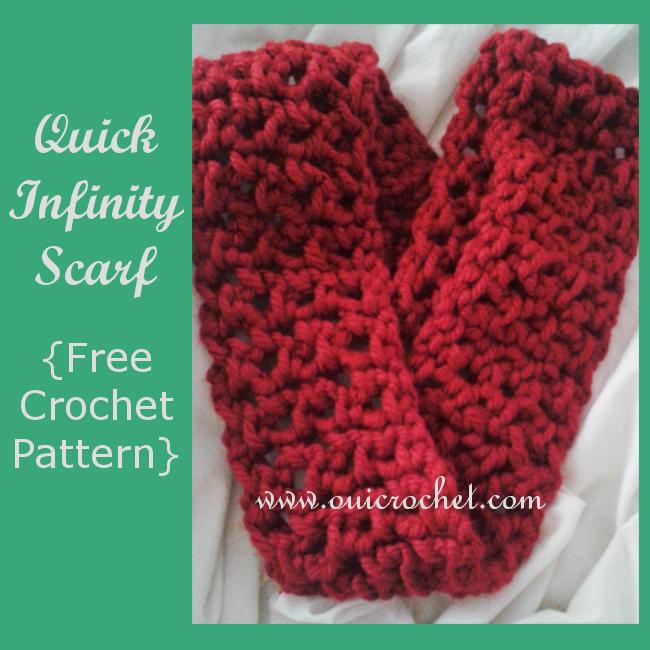 Free Crochet Pattern Quick : Oui Crochet: Quick Infinity Scarf {Free Crochet Pattern}