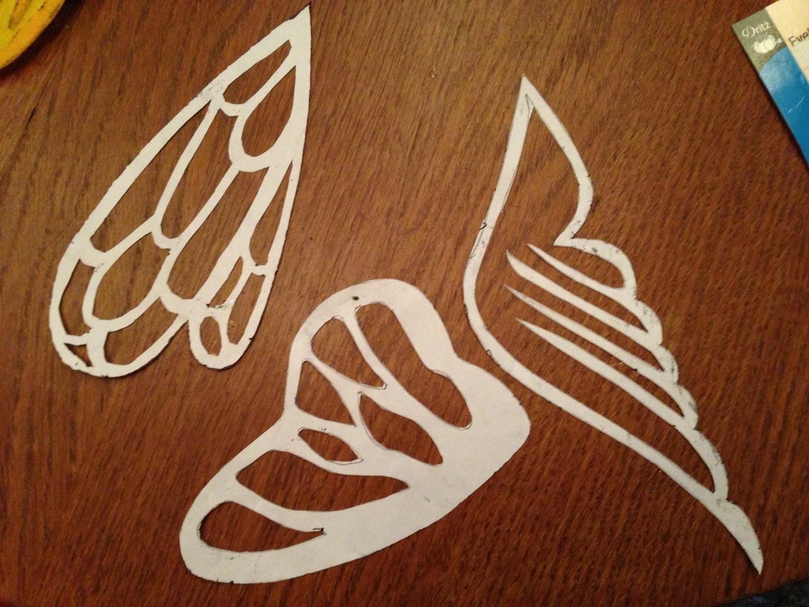 Как сделать из бумаги крыло