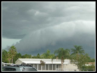 threatening storm clouds at our vacation resort on September 22, 2011