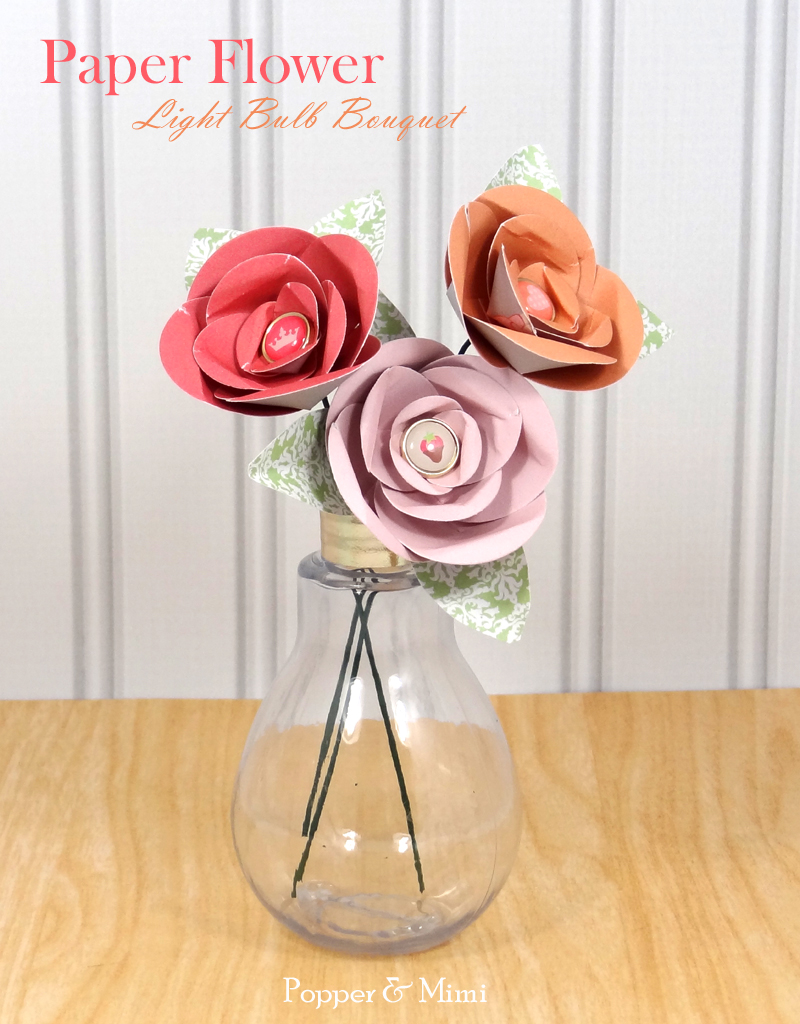 Paper Flower Light Bulb Bouquet | popperandmimi.com