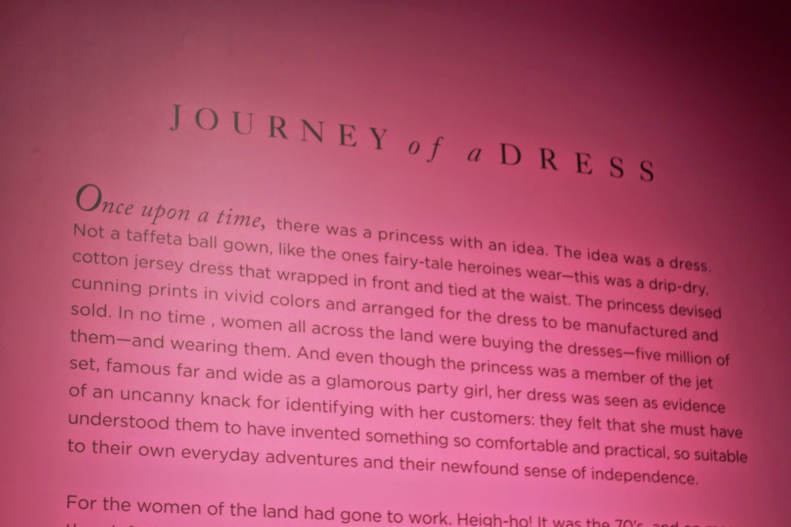 picture of journey of a dress story, dvf picture of journey of a dress story
