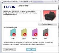 General Error Printer Epson T13