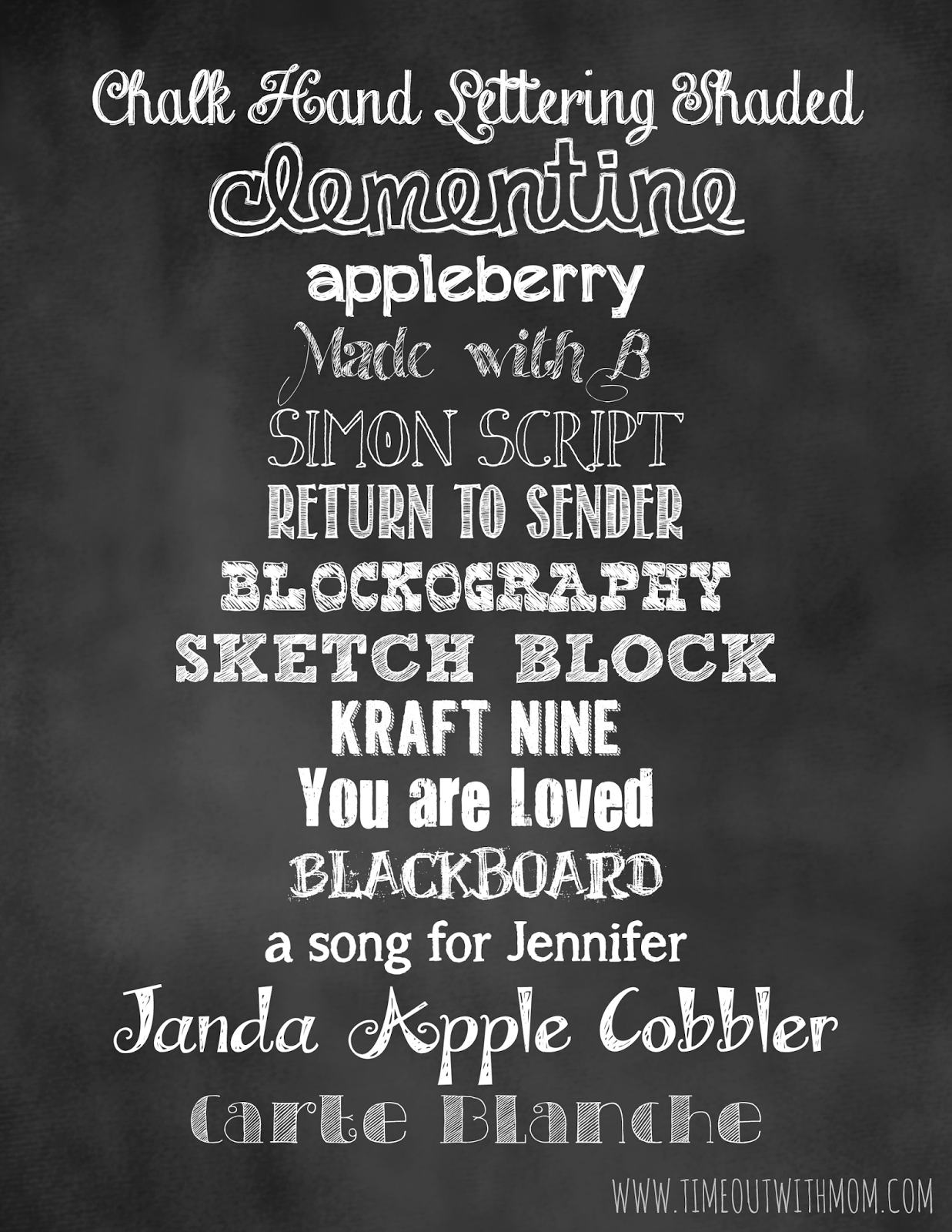 below is a handful of my favorite fonts along with their links to download all of which are free for personal use chalkboard fonts