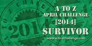 I Survived the Blogging A to Z Challenge 2014
