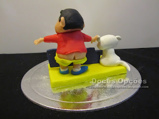 topo bolo Shin Chan cu à mostra