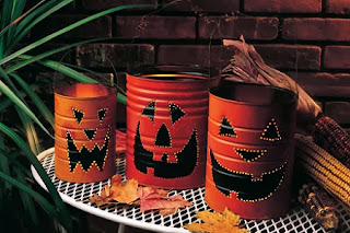 Decoración para Halloween con Materiales Reciclados: Latas de Metal