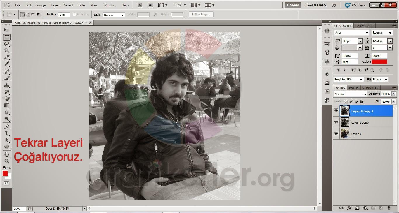 Photoshop İle Karakalem Resim Nasıl Yapılır ( Resimli Anlatım )