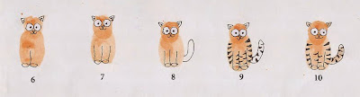cara menggambar kucing dengan sidik jari 3