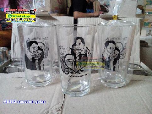 souvenir gelas unik