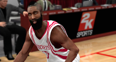 NBA 2K14 James Harden Cyberface Patch