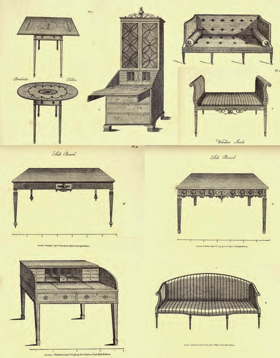 Cl sicos del mueble y dise adores thomas sheraton estilo cl sico ingl s - Muebles el siglo ...
