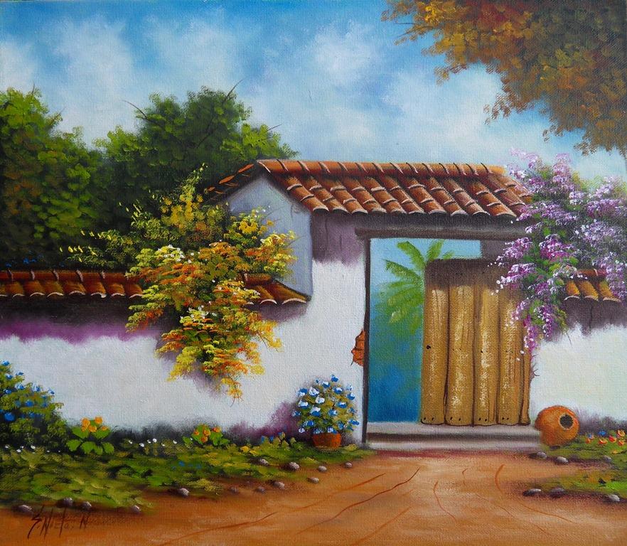 Valorando lo nuestro pintura al leo for Manualidades con puertas viejas