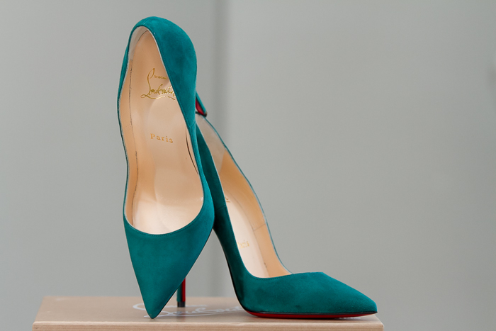 Christian Louboutin  salones stilettos en color verde