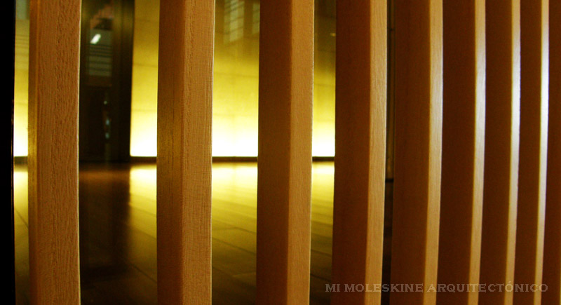 Mi moleskine arquitect nico kengo kuma museo de arte suntory for Celosias para interiores
