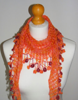 lacey crocheted summer scarf