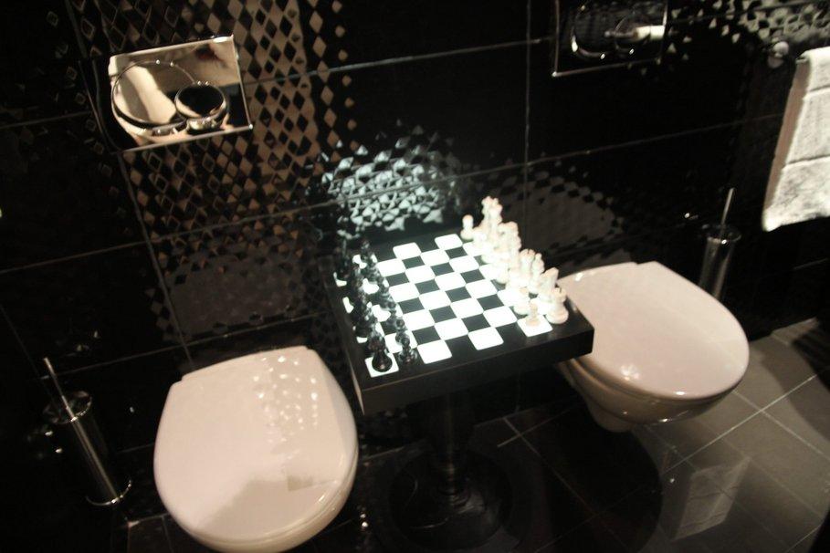 Couleurs et nuances le blog des accros de la d co wc toilettes pipi room la d co du petit - Deco wc zwart ...